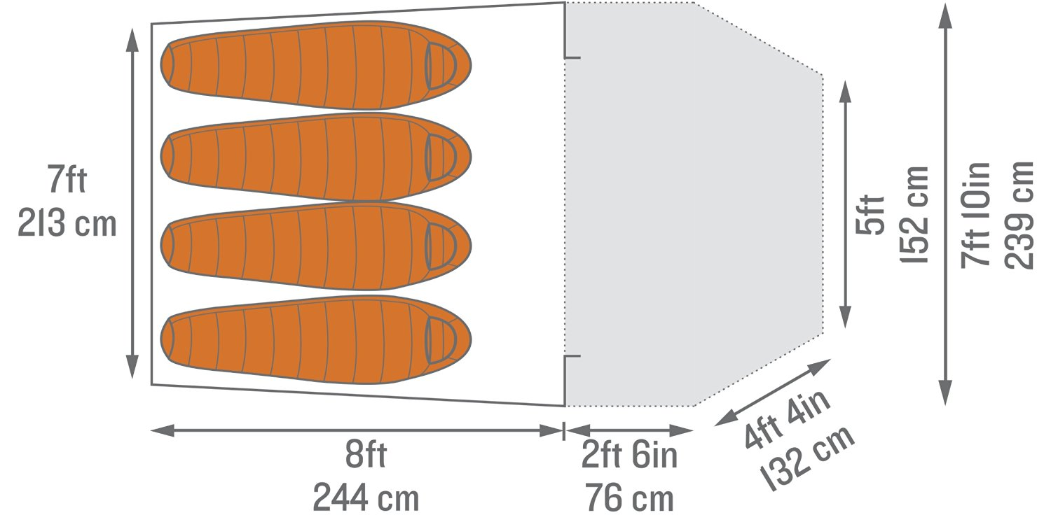 Kelty Airlift 4 Tent Dimensions