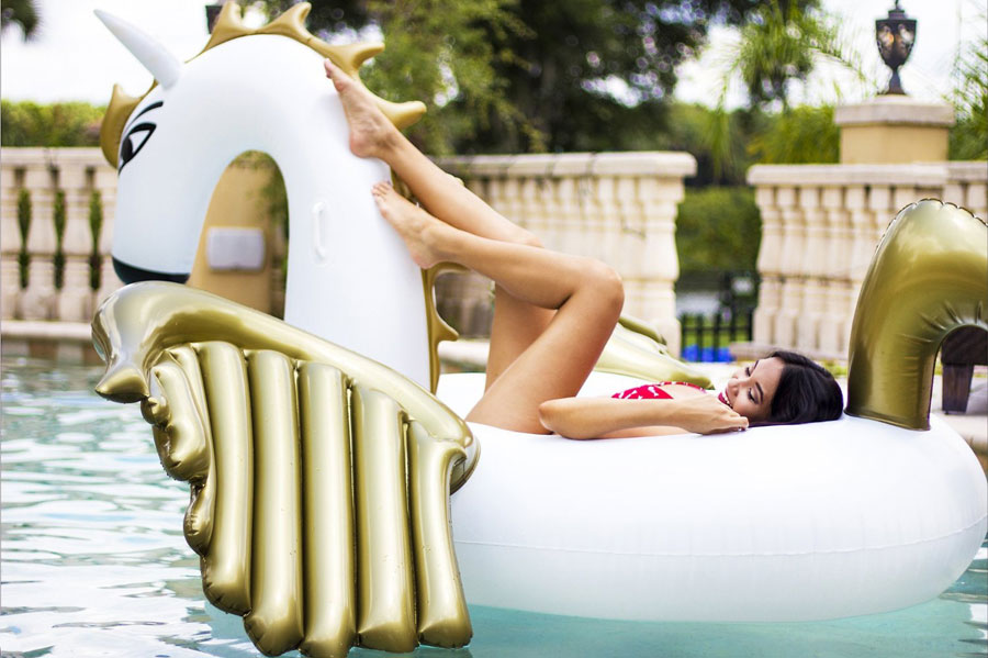 Jason well Giant Inflatable Unicorn Pool Float