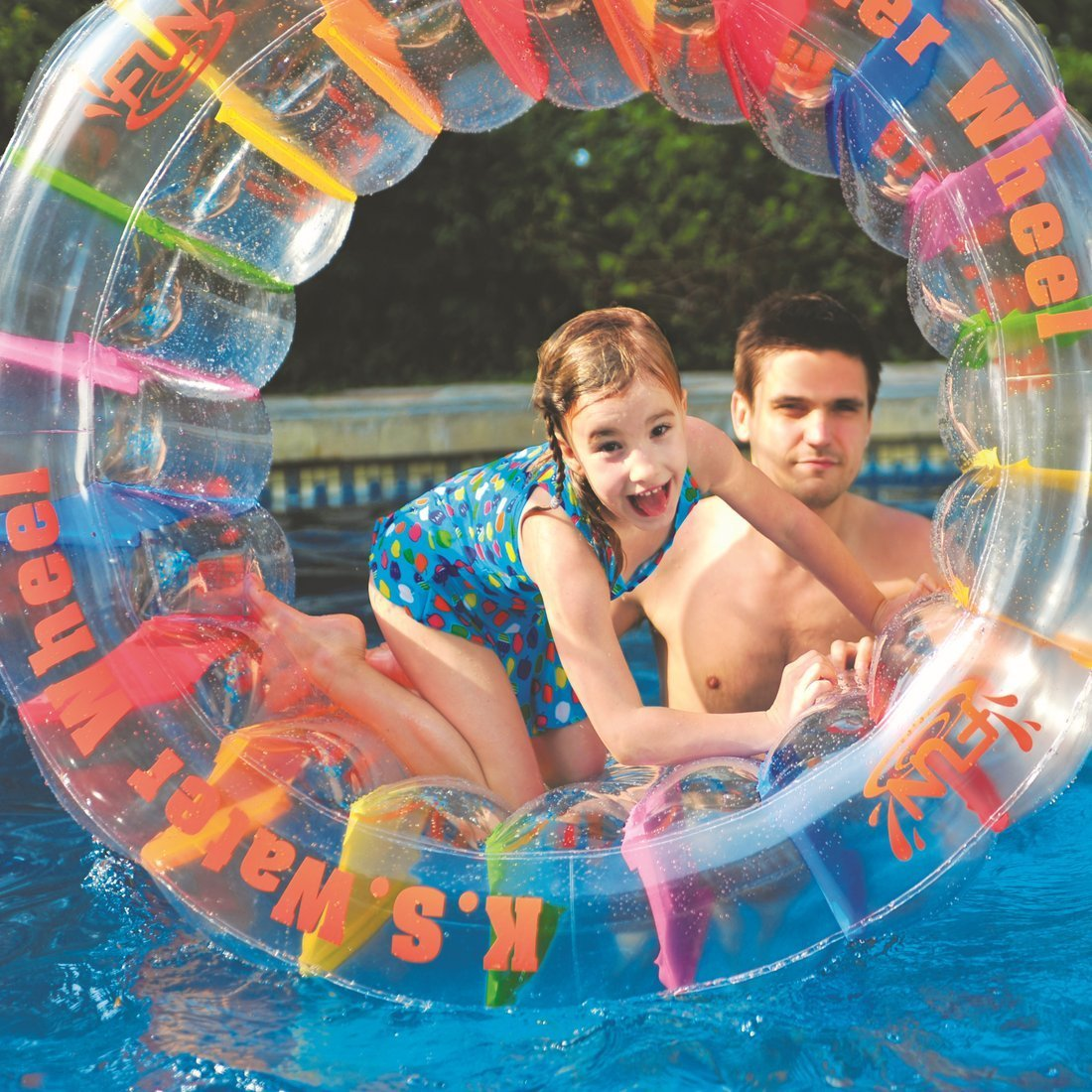 Giant Inflatable Swimming Pool Water Wheel