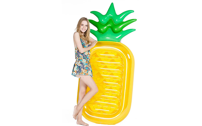 Inflatable Pineapple Pool Float Raft [VICKEA®] Large Outdoor Swimming Pool