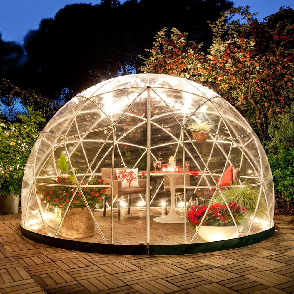 the garden igloo 360 dome perfect for your inflatable hot tub. Black Bedroom Furniture Sets. Home Design Ideas