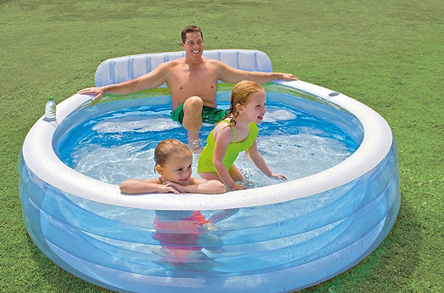 Cool down this Summer with the Intex Swim Centre Family Lounge Pool