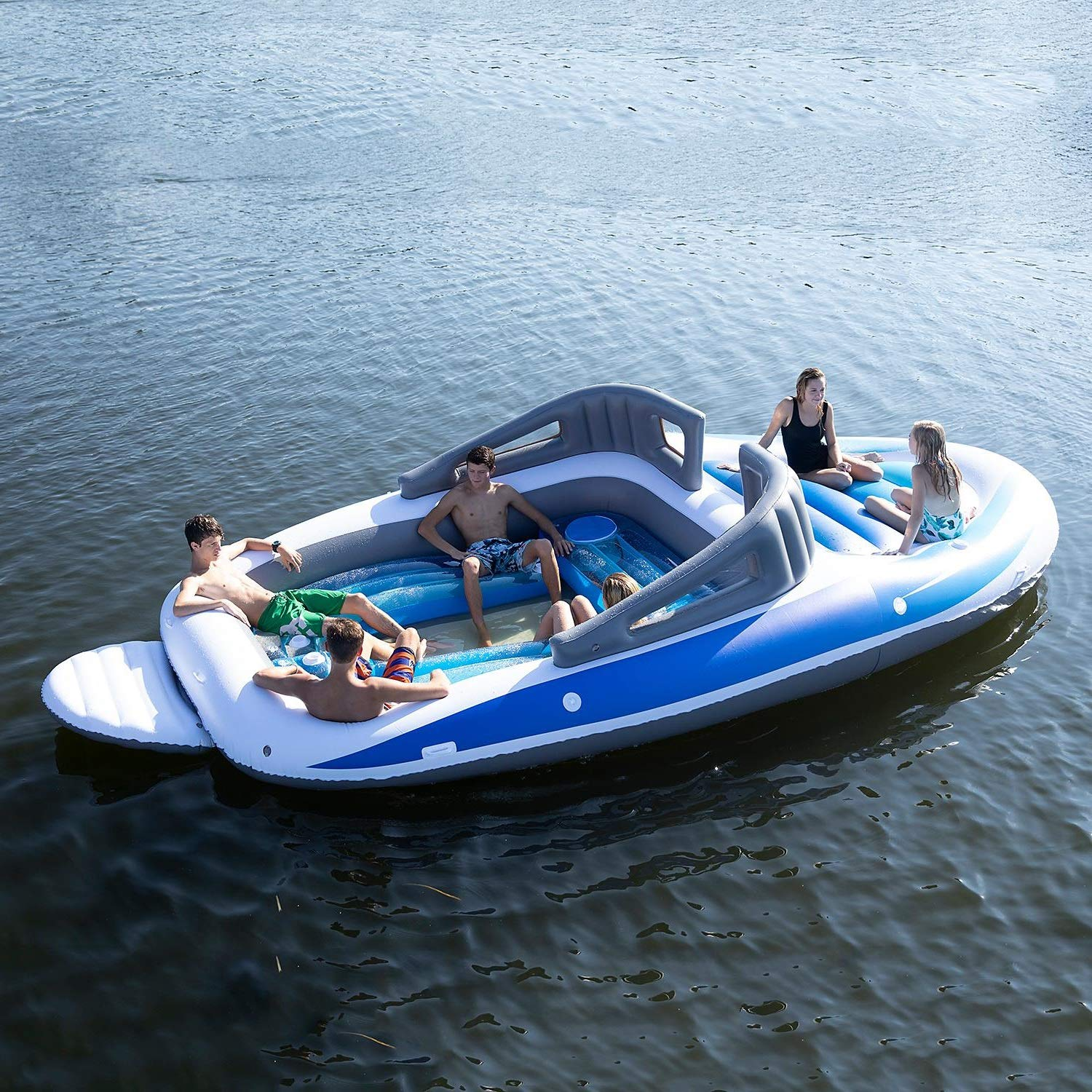 Huge Inflatable Speedboat with a Built-in Drinks Cooler